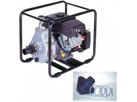 """20-SCH5050 - Magasnyomású vízszivattyú DAISHIN SCH5050 2coll -  DAISHINSCH5050 MAGASNYOMÁSÚ VÍZSZIVATTYÚ      Csőcsatlakozó Ø  50mm-2'    Emelési magasság max. (m)  50    Felszívási mélység max. (m)  8    Szállítási kapacitás max. (l/min)  400    Motor  HONDA GX160    Tank (liter)  3,8    Teljesítmény (LE)  5,5 LE    Indítás  berántós    Üzemanyag  benzin    Méretek (mm)  550x390x450    Súly (kg)  25    VTSZ  8413.6090    Csomagolás  kartondoboz      Ipari és mezőgazdasági munkákhoz  Nagy teljesítmény, csökkentett méretek  ø20mm szemcsméretig  Nagy szállítási teljesítmény  Csőcsatlakozóø 2"""" (50mm)  Max. szállítási kapacitás 400 l/perc  HONDA GX160motor   Leszálllított tartozékok:   szívókosár - 1db 2"""" csőcsatlakozó belső menettel - 3db szorítóbilincs - 3db     Öntözési, illetve vízátemelési feladatokra, a munkagödrök víztelenítésére és egyéb vízszállítási feladatokra kiválóan alkalmasak aHonda GX160motoros magasnyomású vízszivattyúk.    Elsősorban mezőgazdasági és kertészeti ágazatban, vagy tűzoltáshoz használatosak, persze számos más területen is.  pl.: mezőgazdasági területek szórófejes öntözése, halastavak vízpótlása és felszíni vízátemelés, tűzoltáshoz, víz szállításra nagy távolságokon, stb."""