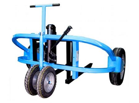 48-811042 - Terep raklapemelő ALBA TH1500 -       - Könnyen mozgatható - Teherbírás: 1500 kg - Egyszerűen kezelhető - Robusztus fémkeret - Karbantartást nem igényel - Könnyedén húzható és emelhető - Egyenletlen talajon való teherszállításra tervezve - Víztűrő csapágyak a kerekeken - Állítható villa szélesség (190 mm-től 590 mm-ig) - Kormányozható kerekek