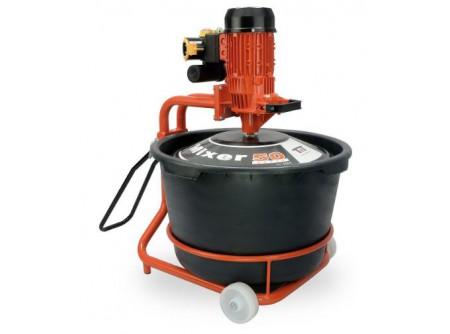 67-MIXER50 - Keverőgép edénnyel BATTIPAV MIXER 50 SUPER - MIXER 50 SUPER           Egyfázisú motor 230 ~ 50Hz / 1,2 Kw Igényes, tartós kialakítás PET vödör - 65 L Keverési kapacitás - 50 kg Egyszerű kezelhetőség Az anyagot közvetlenül a fekete műanyag védő egyésgre kell önteni Majd a megfelelő keverés érdekében centrifugálni kell Automatikus biztonsági kapcsolóval felszerelt Automatikus mixelés Homogénezett paszta, csomók nélkül A kerekek segítségével könnyen hordozható             Keverési kapacitás (kg) 2,2 Aramerősség (A) 7   Vödör mérete (liter) 230 Súly (kg) 50   Fordulatszám (fordulat/perc) 60 Gép mérete (mm) 600×630×640   Teljesítmény (Kw) 1,2 Csomagolási méret h*sz*m (mm) 940×570×780   Feszültésg (V) 230 Csomagolás kartondoboz   Frekvencia (Hz) 50