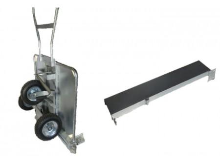 """BPTC-0000-000 - Térkőszállító kocsi ORIT BPTC -  A lerakandó térkőelemekgyors, nagy mennyiségben történő mozgatását segíti elő. 50-105 cm között egyszerűen állítható fogószélesség. Használatával rengeteg időttakaríthat meg és a térkövek sem károsodnak az átrakás alatt.  A térkőszállító kocsi szállítópofái egy mechanizmus segítségével a rakat alsó sorát szorítják össze. A kocsival a raklapról, valamint a földről is felvehető a teljes térkő oszlop. A térköveket beépítő munkás közvetlen közelében helyezhető el a rendezett alakzatú kőhalmaz.   További előnye azORITtérkőszállító kocsi alkalmazásának, hogy a térkő beépítésénél nagy tömegben (nagy foltokban) nem kerül egymás mellé eltérő színárnyalatú elem. A gyártás során ugyanis előfordulhat színárnyalati különbség az egyes gyártási terítékek között. A terítékeket vízszintes rétegenként helyezik el a gyártóművek a raklapokon. Mivel a kocsival az építési munkahelyen függőleges oszloponként történik a raklap """"megbontása"""", biztosított a rétegek keveredése.      Horganyzott kivitel a hosszabb élettartamért   Használataegyszerű és biztonságos  Nagyméretű gumikerekek a könnyűmozgatásért     Típus: ORIT Térkőszállító kocsi (BPTC)  Súly (kg): 94 Min./Max. szélesség:530-920/ 1250 mm szélesítő elemmel Max. terhelhetőség (kg):450 Max. magasság (cm):90 Szállítási kód: 15 VTSZ szám: 8464.90"""