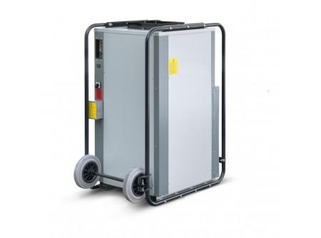 PD1500 - Ipari párátlanító CALOREX PD1500 -  IPARI PÁRÁTLANÍTÓ BERENDEZÉS CALOREX PD1500 IPARI PÁRÁTLANÍTÓ  Kölcsönzői használatra is ajánlott modell!    • Műanyagalapú festékkel bevont, horganyzott acél készülékház  • Teljesen automatikus működés  • Beépített páratartalom-mérő  • Poliészter bevonatú párologtató és kondenzátor  • Már 3°C külső hőmérséklet felett használható  • Nagy teljesítményű kompresszor  • Nagy emelési magasságú kondenzvíz szivattyú  • Automatikus leolvasztás alacsony hőmérsékleten történő működés esetén  • A gép működéséhez a nulla vezeték bekötése nem szükséges  • Gyors tisztítást és ellenőrzést lehetővé tevő konstrukció  • Légcsatornába köthető  • Könnyen cserélhető és tisztítható levegőszűrő    Kapacitás: (30°C/80% RH) 220liter/24h Kapacitás: (20°C/60% RH) 100 liter/24 Légszállítás: 2500m3/h            Szállítási kód  20    Kapacitás (30˚C/80% RH) / (20°C/60% RH)  220 / 100    Javasolt helyiségméret (építőipari, m3/m2)  1700/600    Légszállítás (m3/h)  2500    Teljesítményigény (KW)  2,7    Motor teljesítménye (A)  6,75    Hálózati biztosító (A)  16    Szükséges indítóáram (A)  30    Feszültség (nulla bekötése nem szükséges V/Hz)  400/3ph/50    Zajszint (dB)  58    Csomagolási méret h×sz×m (mm)  1100×700×1313    Nettó/ bruttó súly (kg)  130 / 135    VTSZ  8479.8997    Csomagolás  Kartondoboz