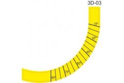 Cimke, szögmérő felső 3D (félkör 15-90)  65-731005